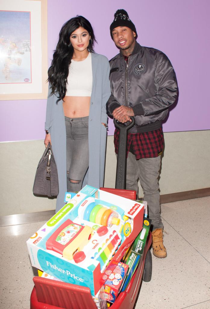 LA Gear Presents Teen Impact Holiday Party Hosted by Tyga, Kylie Jenner at Childrens Hospital LA