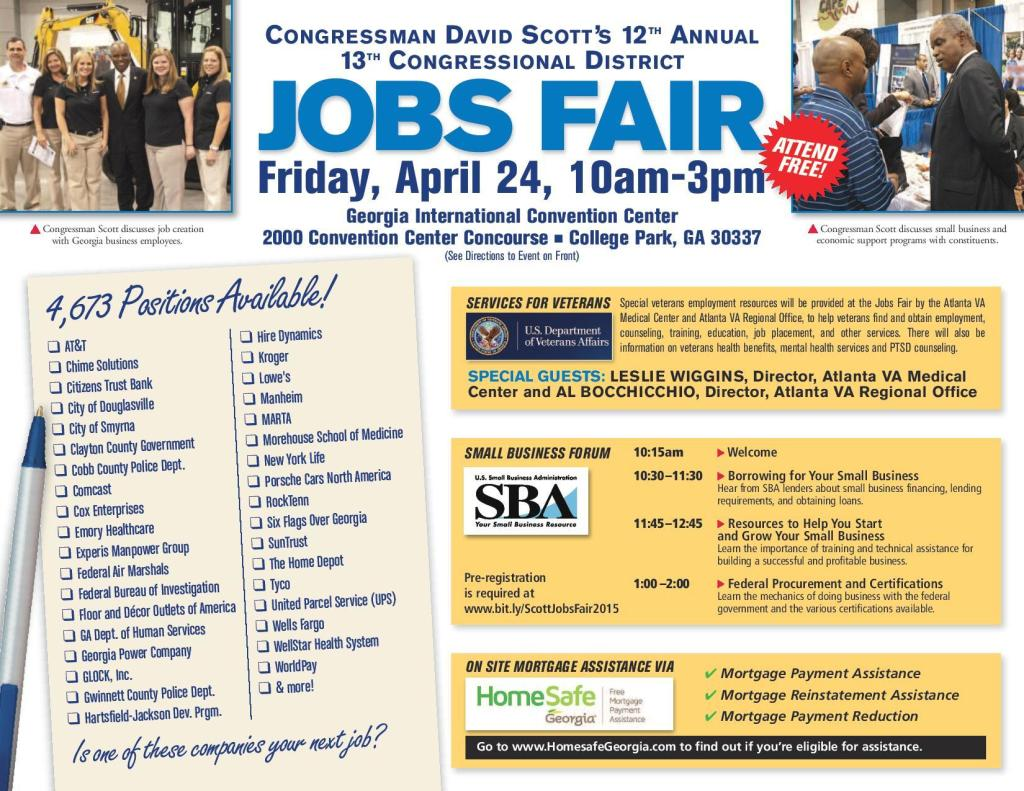 Congressman David Scott job fair