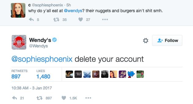 Wendy's Roasting Their Hater Trolls 10