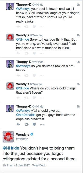 Wendy's Roasting Their Hater Trolls 4