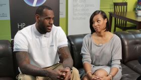 LeBron James Family Foundation Hewlett-Packard Computer Give Announcement And American Signature Teen & Game Room Dedication