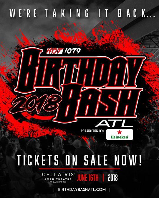 Birthday Bash ATL 2018 graphics