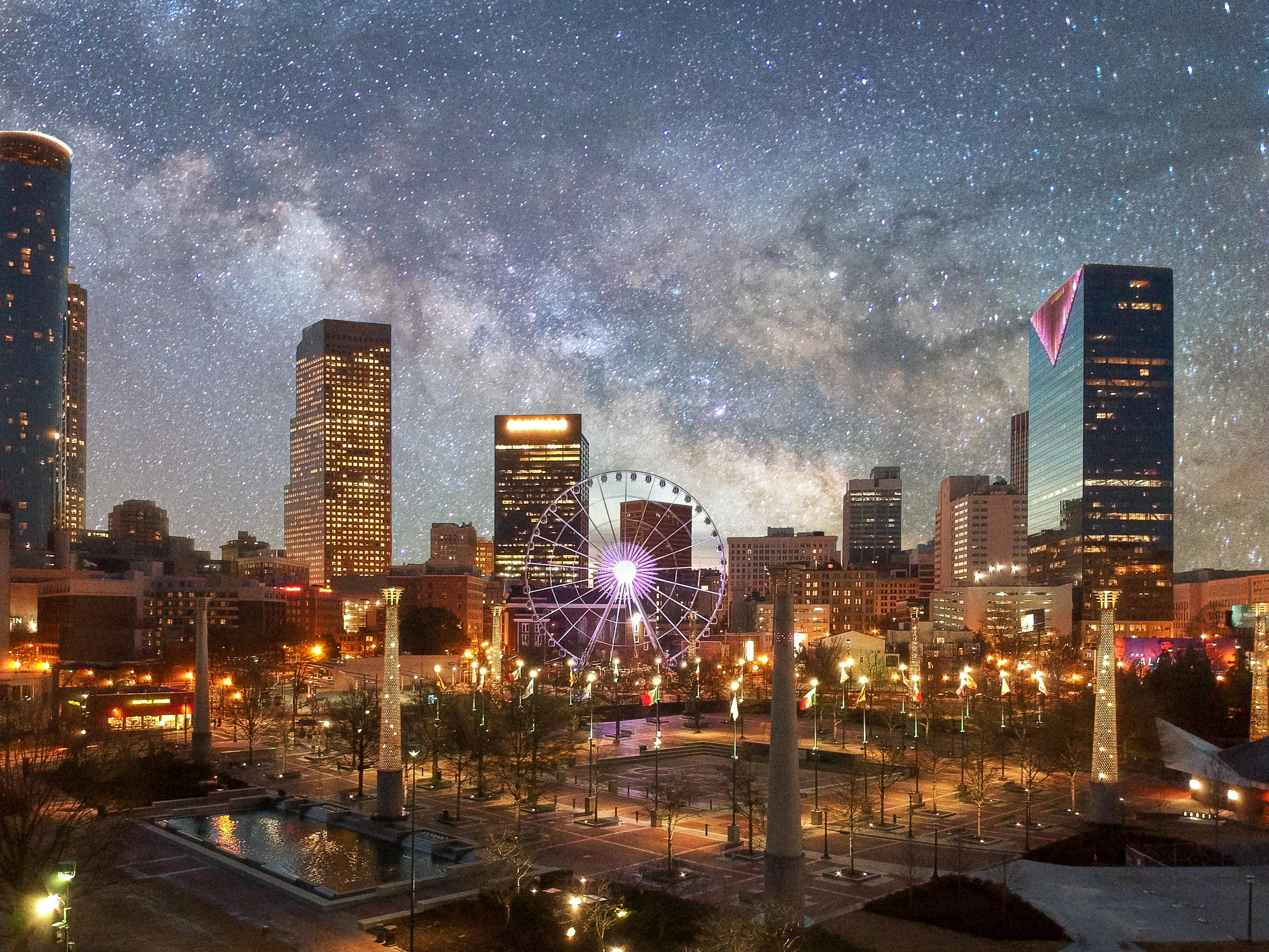 Downtown Atlanta Georgia Lights