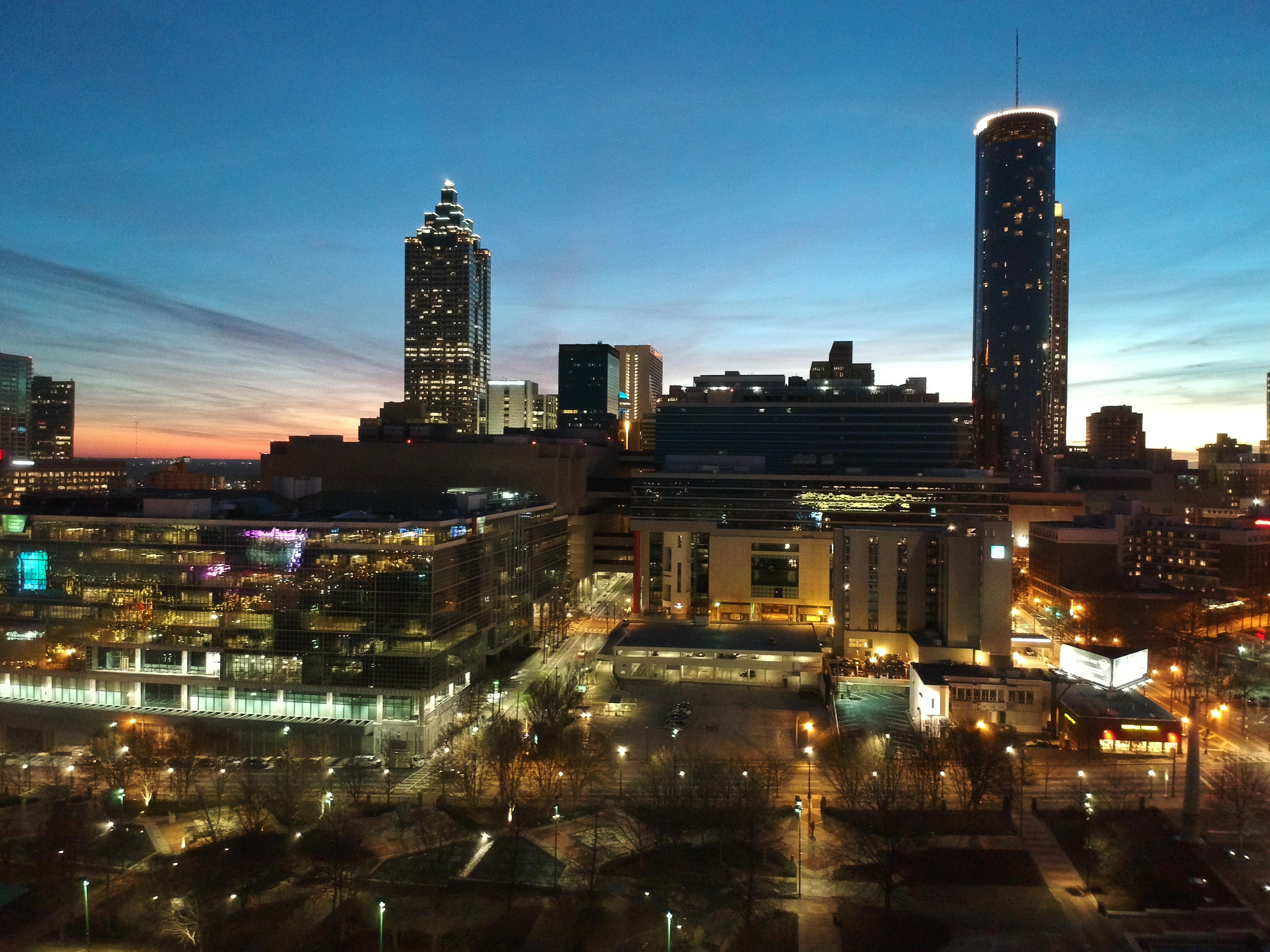 Downtown Atlanta Georgia Lights 9