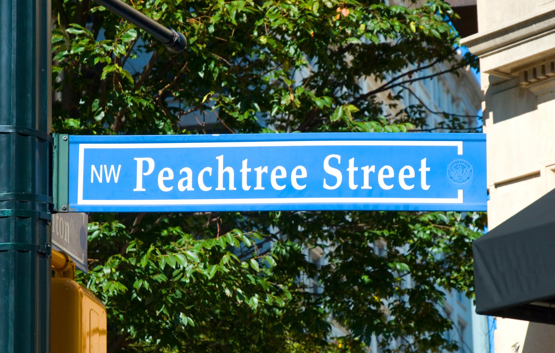 Peachtree Street Sign in Atlanta