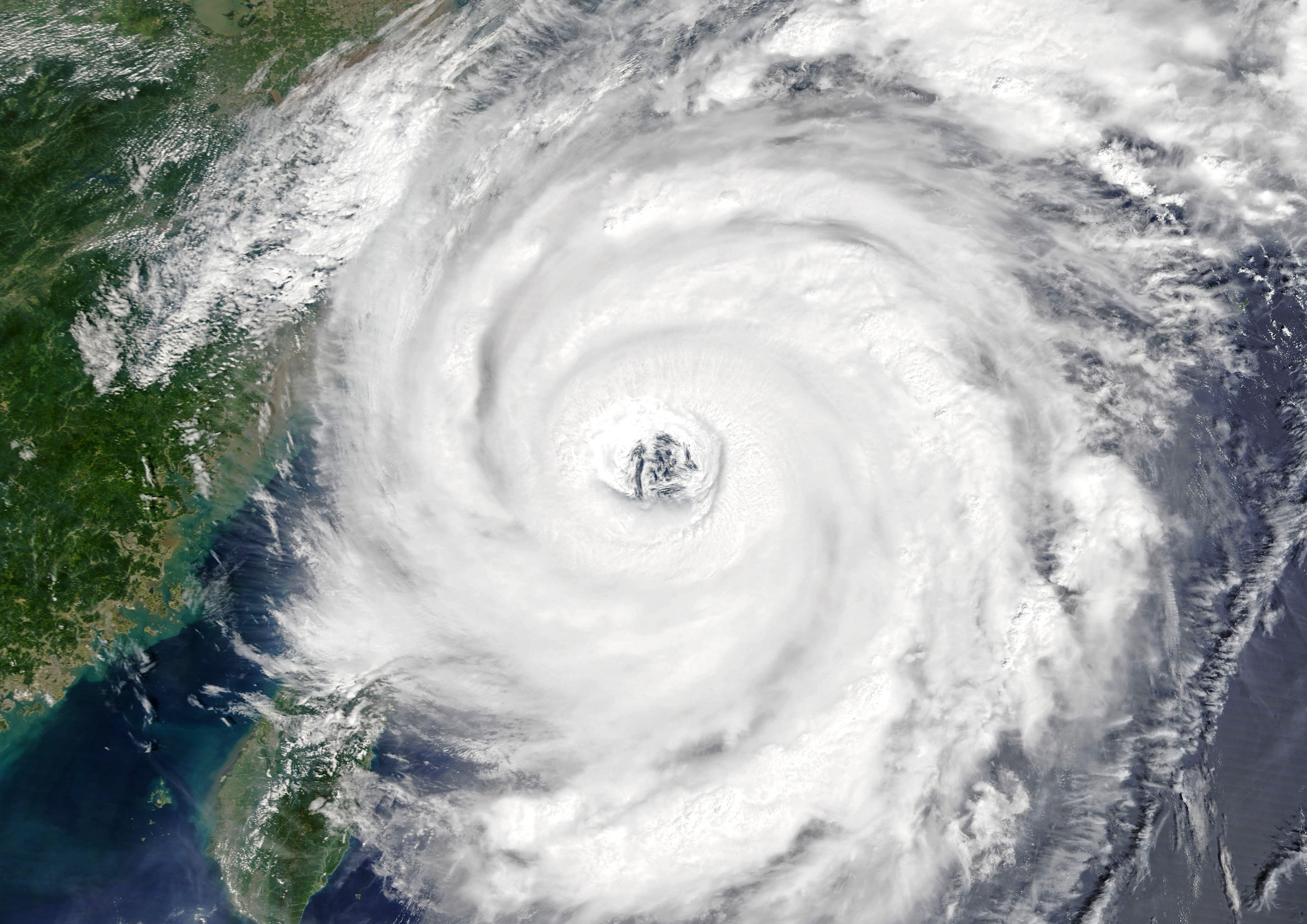 Typhoon Talim over East China Sea in 2017