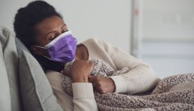 Woman with flu.