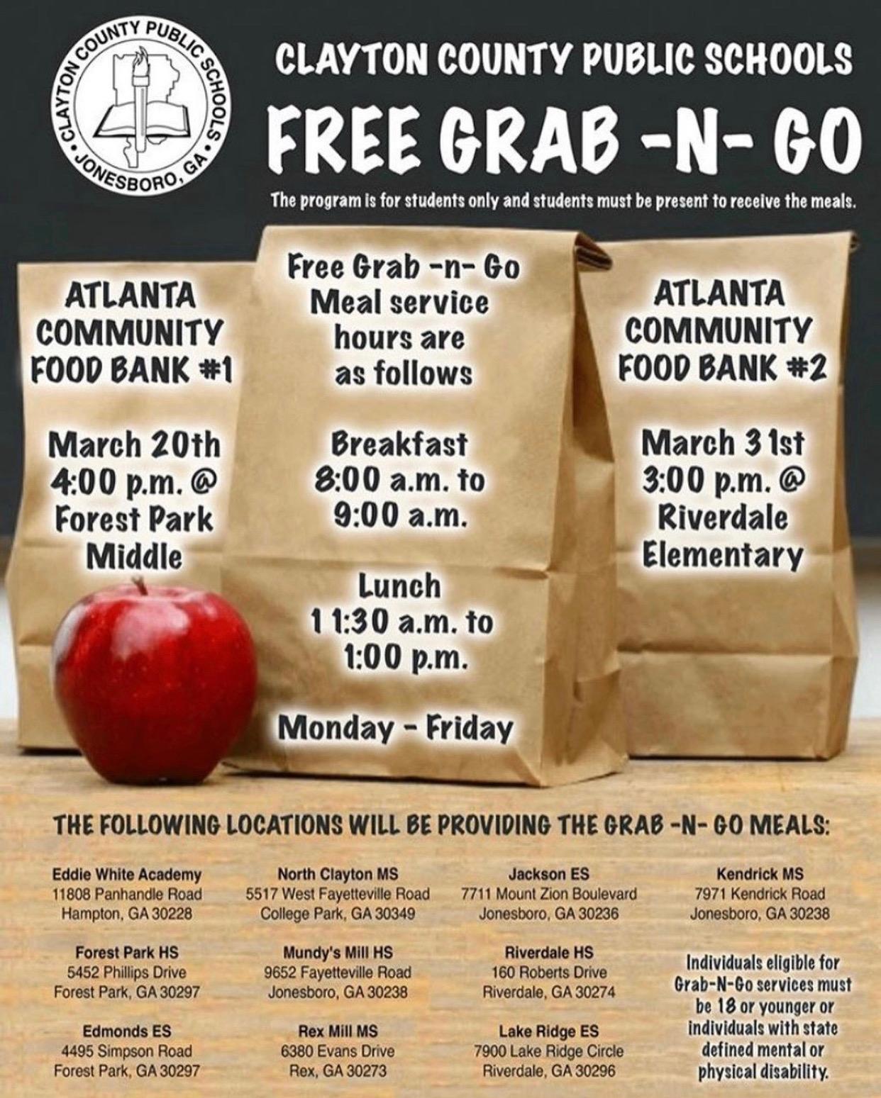 free meals atlanta