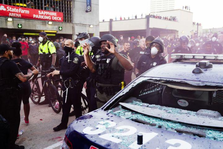 Atlanta Protest Held In Response To Police Custody Death Of Minneapolis Man George Floyd