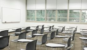 Classroom with dry-erase board