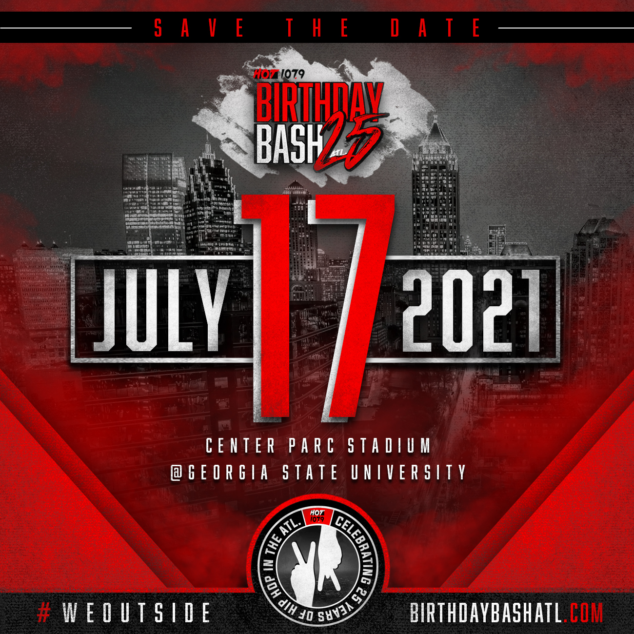 Birthday Bash 25 SAVE THE DATE