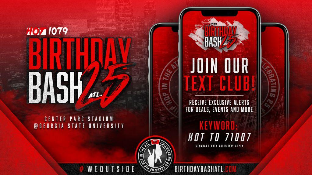 Birthday Bash text