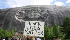 Black Lives Matter Holds Protest Over Recent Police Killings In Stone Mountain, Georgia