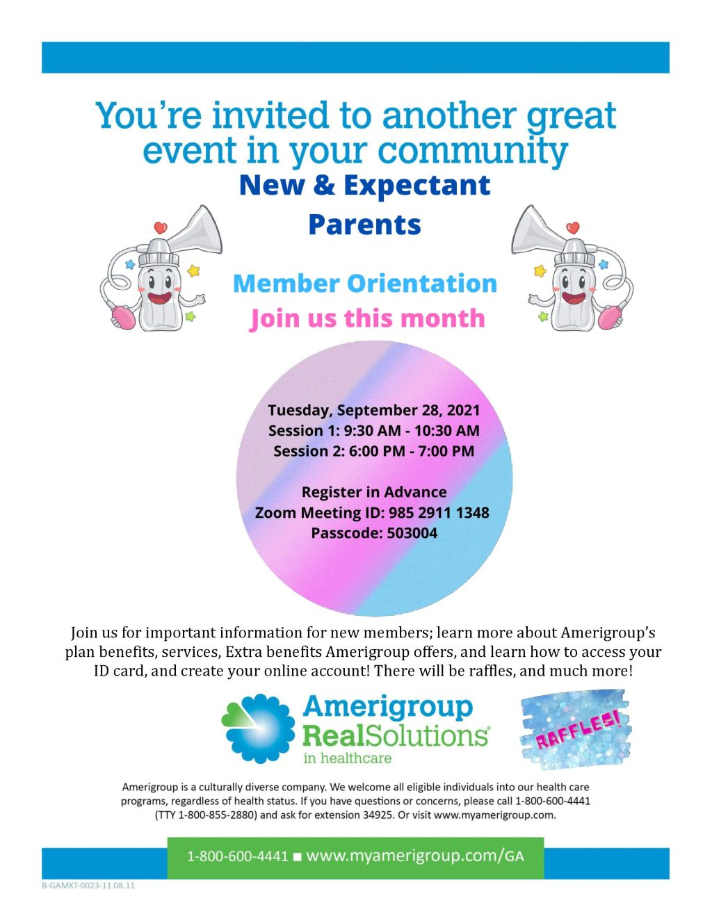 Amerigroup New and expectant parents Member Orientation