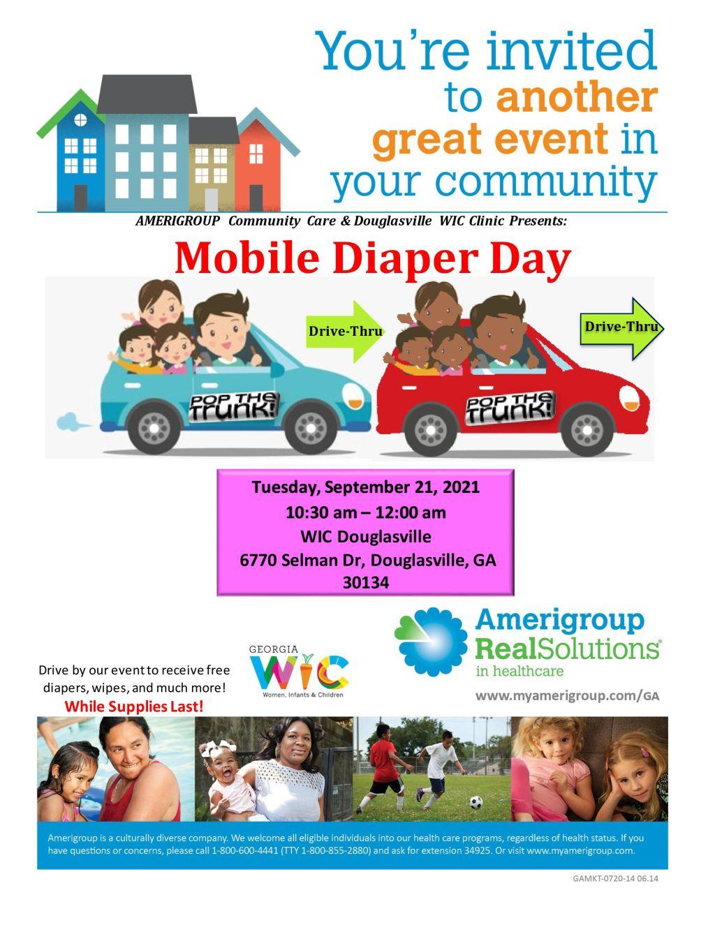 Amerigroup Mobile Diaper Day Douglasville