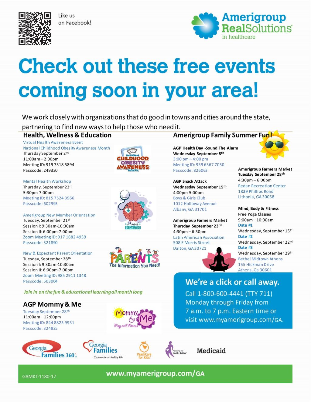 Amerigroup Statewide Events Sept 2021