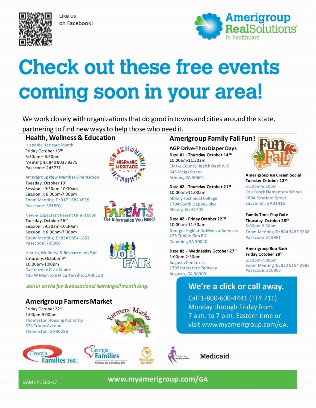 Amerigroup Statewide Events October 2021